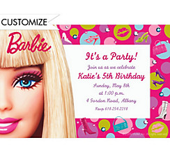 Barbie Custom Invitation