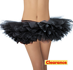 Adult Black Organza Tutu