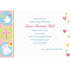 Sweet Christening Girl Custom Invitation