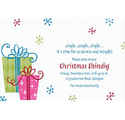 Fancy Christmas Gifts Custom Invitation