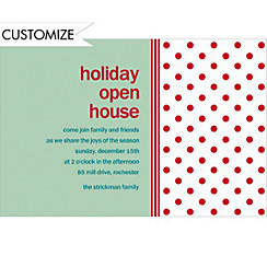 Polkadot Mint Custom Christmas Invitation