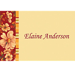 Classic Floral Red Custom Thank You Note