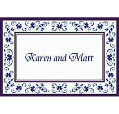 Blue Provence Custom Thank You Note