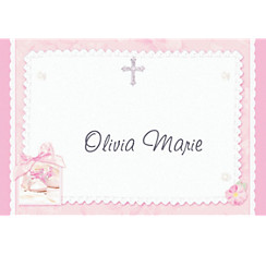 Tiny Blessing Pink Custom Thank You Note