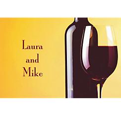 Wine & Glass Custom Thank You Note