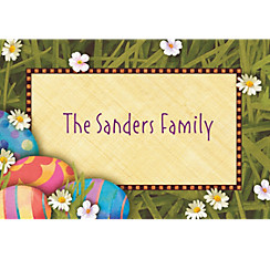 Easter Elegance Custom Thank You Note