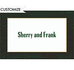 Dark Green Moir??/White Custom Thank You Note
