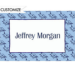 Mortarboard Pattern Custom Thank You Notes