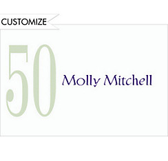Big 50 Custom Thank You Note