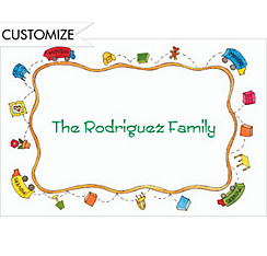 Moving Truck Border Custom Thank You Note