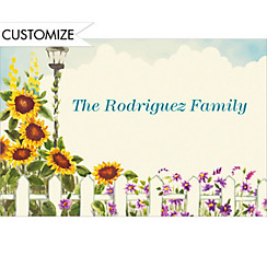 Sunflowers Custom Thank You Note