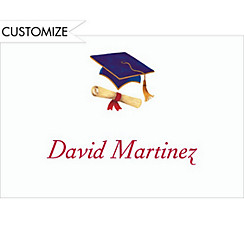 Mortarboard and Diploma Custom Thank You Notes