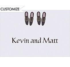 Groom and Groom Shoes Custom Wedding Thank You Note
