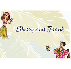 Custom Luau Couple Wedding Thank You Notes