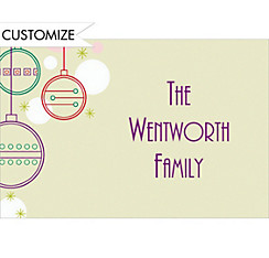 Contemporary Ornaments Custom Christmas Thank You Note