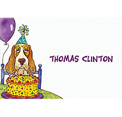 Dog Years Birthday Custom Thank You Note