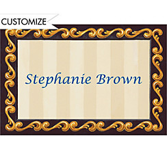 Custom Blue Grad Portrait Thank You Notes