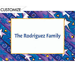 Diagonal Holiday Stripe Custom Thank You Note