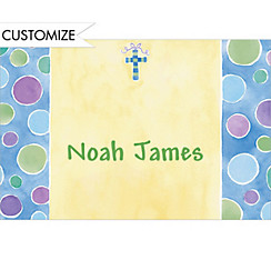 Charming Cross with Bow Custom Thank You Note
