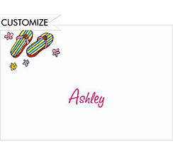 Funky Flip-Flops Custom Thank You Note