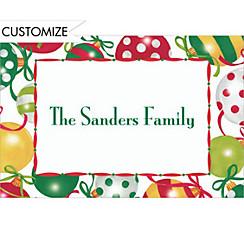Pretty Ornament Pattern Custom Christmas Thank You Note