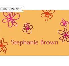 Playful Blooms Custom Thank You Note