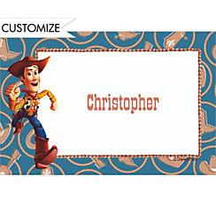 Woody on Cowboy Border Custom Thank You Note