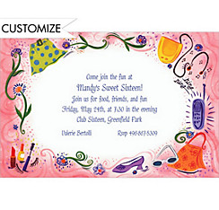 Teen Fashion Custom Invitation