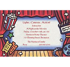 Movie Theatre Custom Invitation