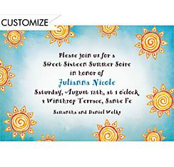 Summer Sun Custom Invitation