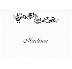 Musical Notes Custom Thank You Note