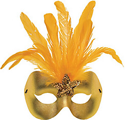 Gold Star Dust Masquerade Mask