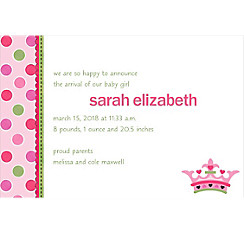 Custom Little Princess Birth Announcements