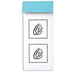Monogram Envelope Seals Q 30ct