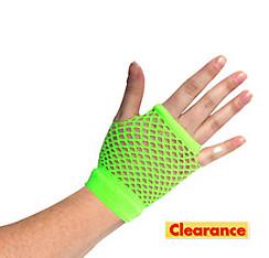 Short Neon Green Fishnet Glove
