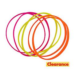 Neon Flat Bracelets 6ct