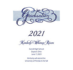 Custom Calligraphic Graduation Announcements