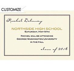 Custom Black Dot & Line Graduation Announcements