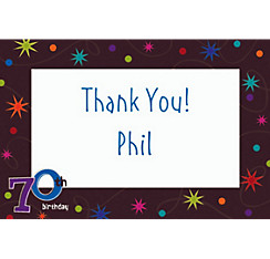 The Party Continues 70 Custom Thank You Note