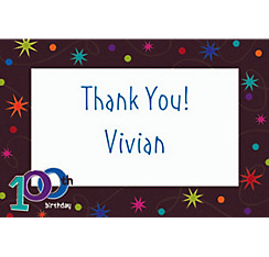 The Party Continues 100 Custom Thank You Note