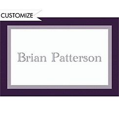 Custom Navy Austere Border Graduation Thank You Notes