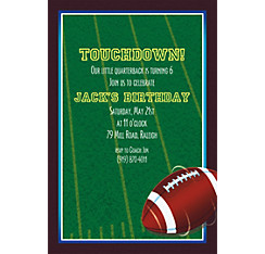 The Big Game Custom Invitation