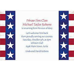 Americana Welcome Home Custom Invitation