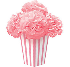 Light Pink Fluffy Flower Centerpiece Kit 6pc