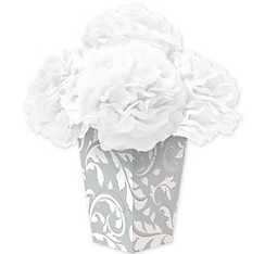 Silver Fluffy Flower Centerpiece Kit 6pc