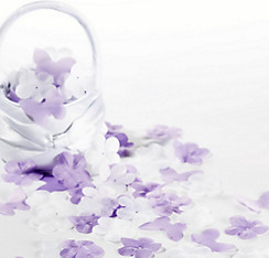 Lilac Fabric Flower & Butterfly Confetti 300ct
