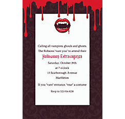 Fangtastic Halloween Custom Invitation