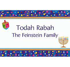 Hanukkah Celebrations Custom Thank You Note