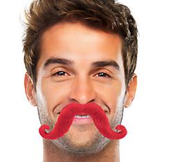 Red Handlebar Moustache