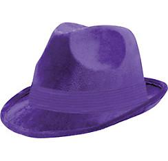 Purple Suede Fedora